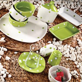 سرویس صبحانه خوری لاویوا مدل پونتو 28 پارچه رنگ سبز