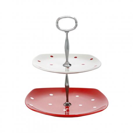 شیرینی خوری porser مدل دو طبقه رنگ قرمز