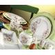 سرویس صبحانه خوری لاویوا مدل فلورا 39 پارچه رنگ سبز