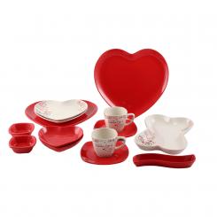 سرویس صبحانه خوری لاویوا مدل لاو قرمز 14 پارچه