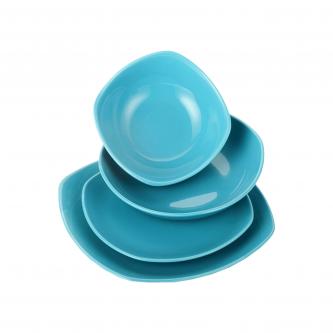 سرویس غذاخوری لاویوا مدل اریس 24 پارچه رنگ آبی