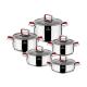 سرویس قابلمه استیل زوپینی مدل دنیز 10پارچه