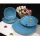 سرویس غذاخوری لاویوا مدل اریس 24 پارچه رنگ لاجوردی