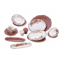 سرویس صبحانه خوری لاویوا مدل ورا شکلاتی 40 پارچه