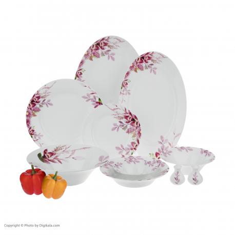 سرویس غذاخوری لاویوا مدل دومنیکو گلدار 35 پارچه